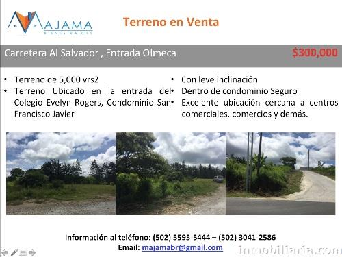 300 000 Dolares Terreno Urbano En Guatemala En Venta Km 16 5